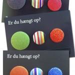 Tavlemagneter af polsterknapper